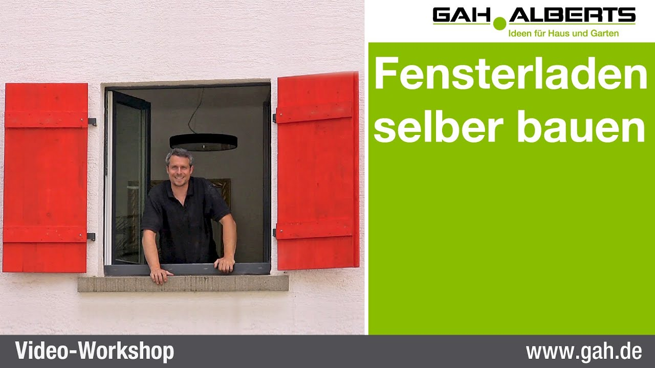 gah workshop fensterladen selbst bauen youtube. Black Bedroom Furniture Sets. Home Design Ideas
