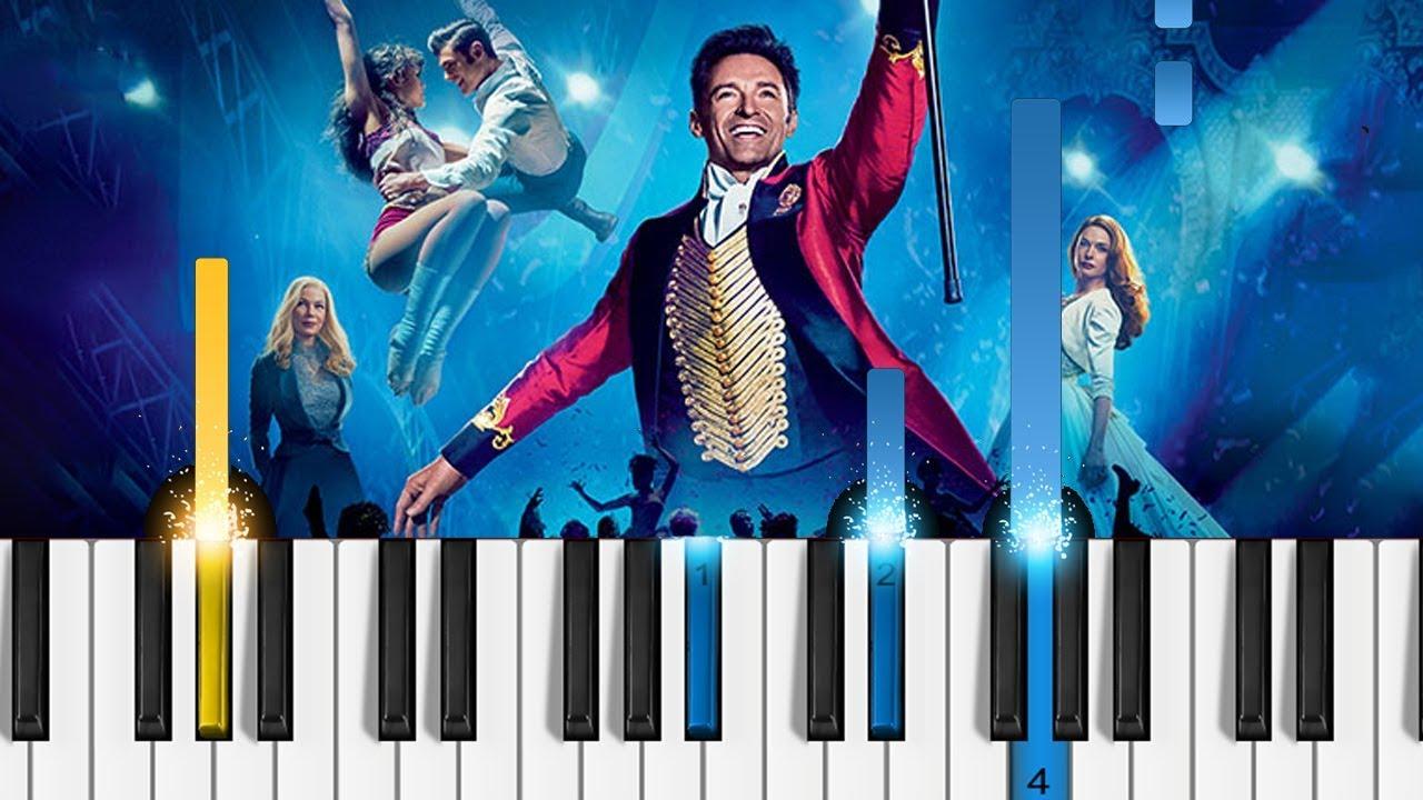 The Greatest Showman A Million Dreams Piano Tutorial The Greatest Showman Soundtrack