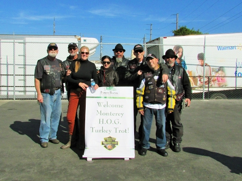 Calvary Chapel Biker Church money donations to the Food Bank.
