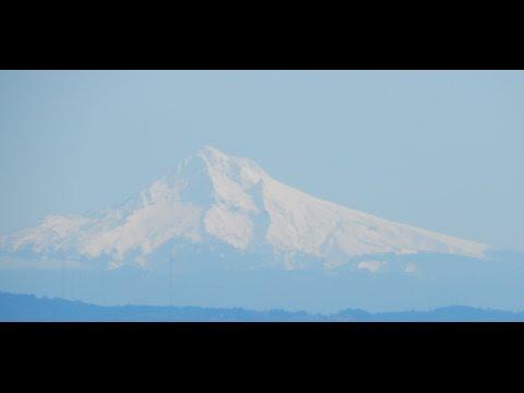 Mt. St. Helen, Mt. Adams & Mt. Hood from Oregon Coastal Range
