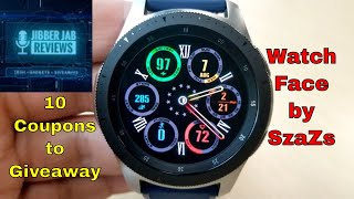 Samsung Galaxy Watch/Gear Watch Face by SzaZs - 10 Coupons to Giveaway - Jibber Jab Reviews!