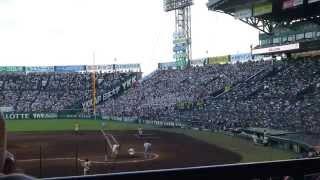 2014年8月14日山形中央ブラバン(甲子園球場)come on♪9回表