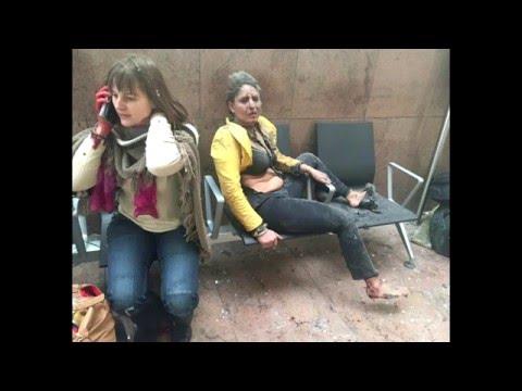 Видео и фото последствий теракта в Бельгии