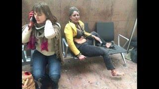 Видео и фото последствий теракта в Бельгии(Утром 22 марта в брюссельском аэропорту в городе Завентем прогремело два взрыва. По предварительной информа..., 2016-03-22T11:41:38.000Z)