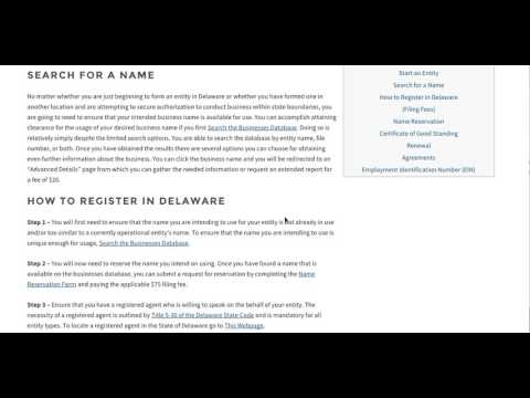 How to Start a Business in Delaware | DE Division of Corporations
