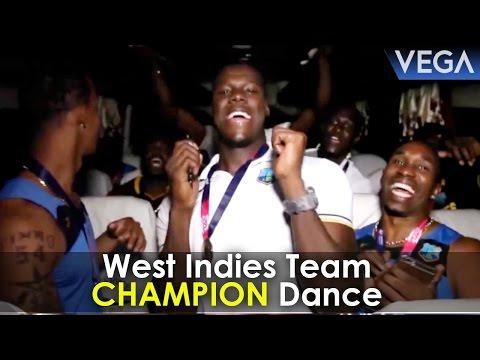 Chris Gayle, Darren Sammy, Bravo & West Indies Cricket Team Celebrations In Bus After T20 Win