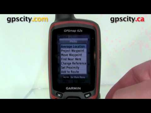 Waypoints on the Garmin GPSMap 62S with GPSCity