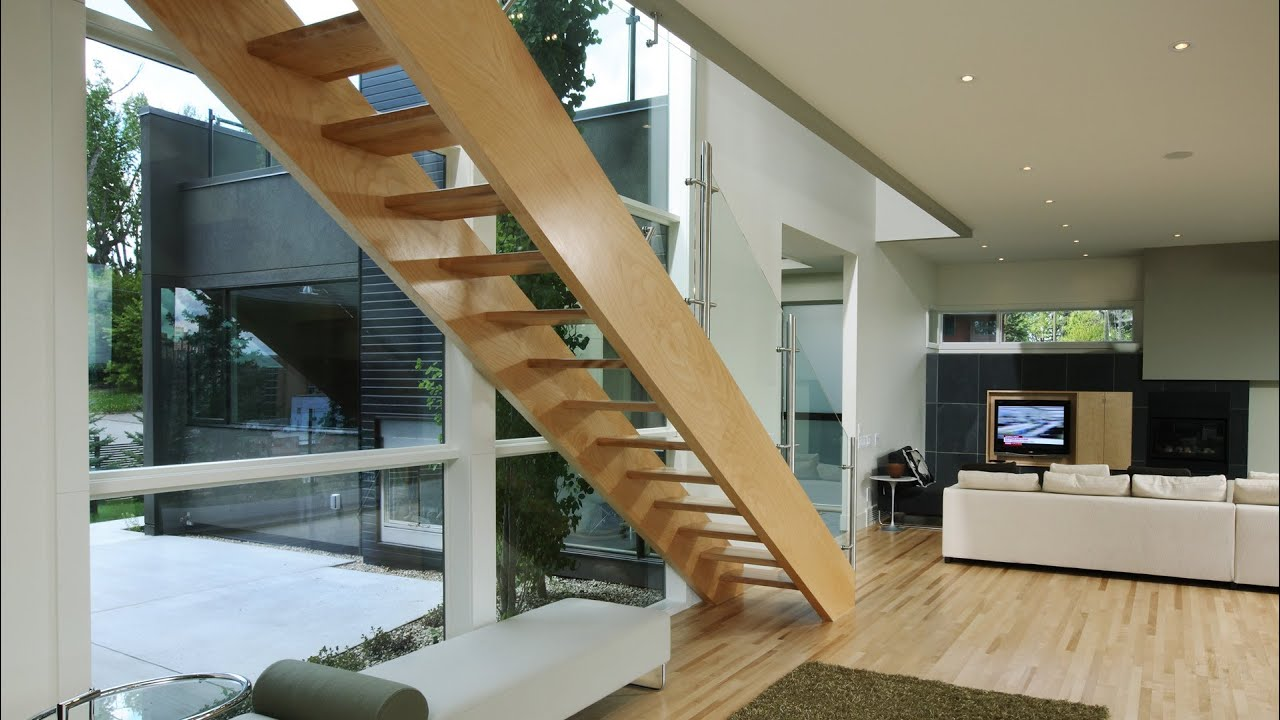 How To Detail Open Stairs Youtube   Open Tread Staircase Designs