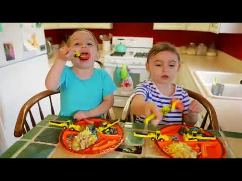 Constructive Eating Construction Plate and Utensil Set  sc 1 st  YouTube & Constructive Eating Construction Plate and Utensil Set - YouTube