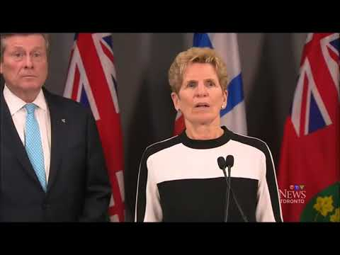 Blood Curdling Scream Interrupts Kathleen Wynne Scrum w/ Mayor John Tory