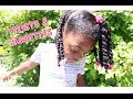 Twists & Barrettes   Natural Hair Tutorial for Girls ft As I Am Born Curly