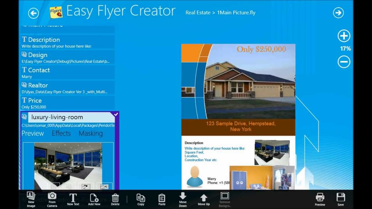 easy flyer creator 4 1 windows store app youtube
