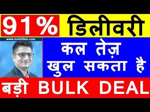 91 % डिलीवरी कल तेज़ खुल सकता है   Latest Share Market Tips   Latest Stock Market Tips In Hindi