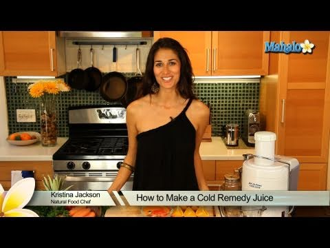 How to Make a Cold Remedy Juice