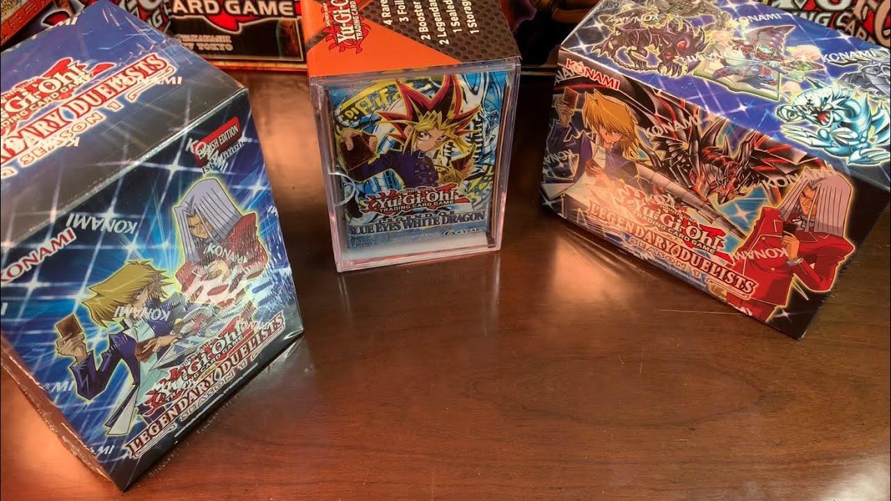 Yugioh LEGENDARY DUELIST SEASON 1 Box Opening x2!!! Mystery Cube; LOB, MRD! Cool Reprints!!