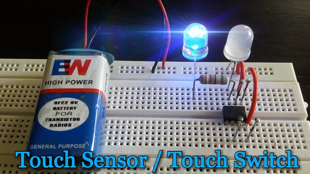 How To Make A Touch Sensor Using 555 Timer Ic On Breadboard Hd Infrared Proximity Wiring Diagram