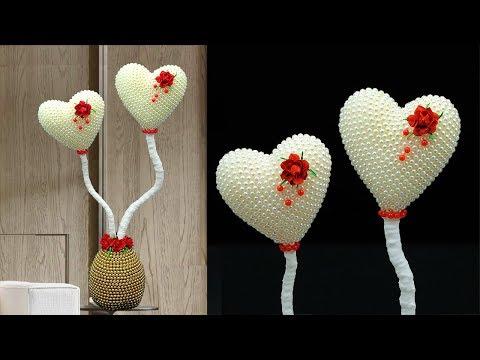 Heart Showpiece    Home Decor    How to Make Easy Heart Showpiece