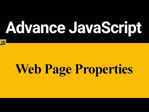 Web Page Properties In JavaScript (Hindi)