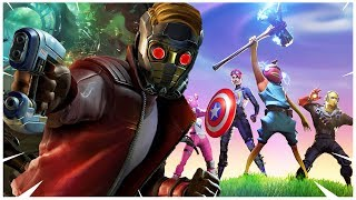 Fortnite STAR LORD + BAILE ¡ Nueva SKIN de MARVEL ! Chris Pratt ( Fortnite x Avengers EndGame )