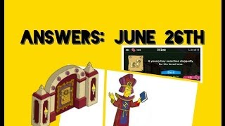 Simpsons Tapped Out - Sacred Parchment Answer (june 26th) More Free Donuts!!!!