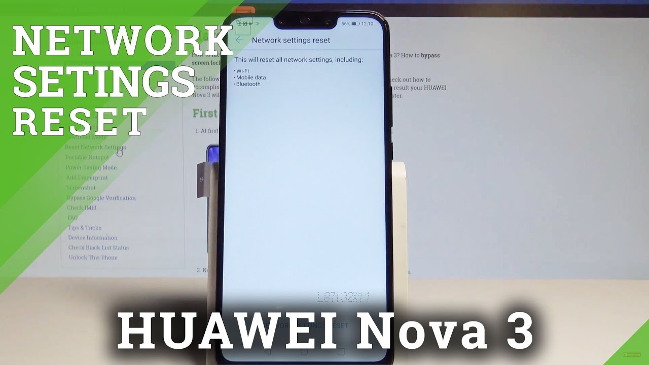 How to Reset Network Settings on HUAWEI Nova 3 - Default Network Settings