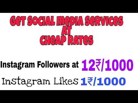 Buy Social Media Services At Cheapest Rates, starting From 1₹/1000 Instagram Likes