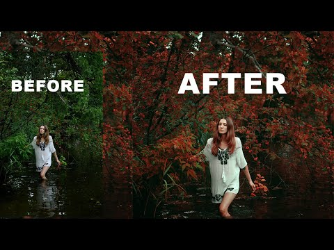 Creative Red Color Grading Tutorial In Photoshop