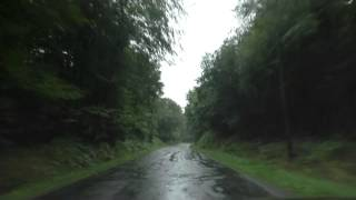Driving On The D31 Between Rostrenen & La Croix Tasset, Brittany, France 25th August 2014