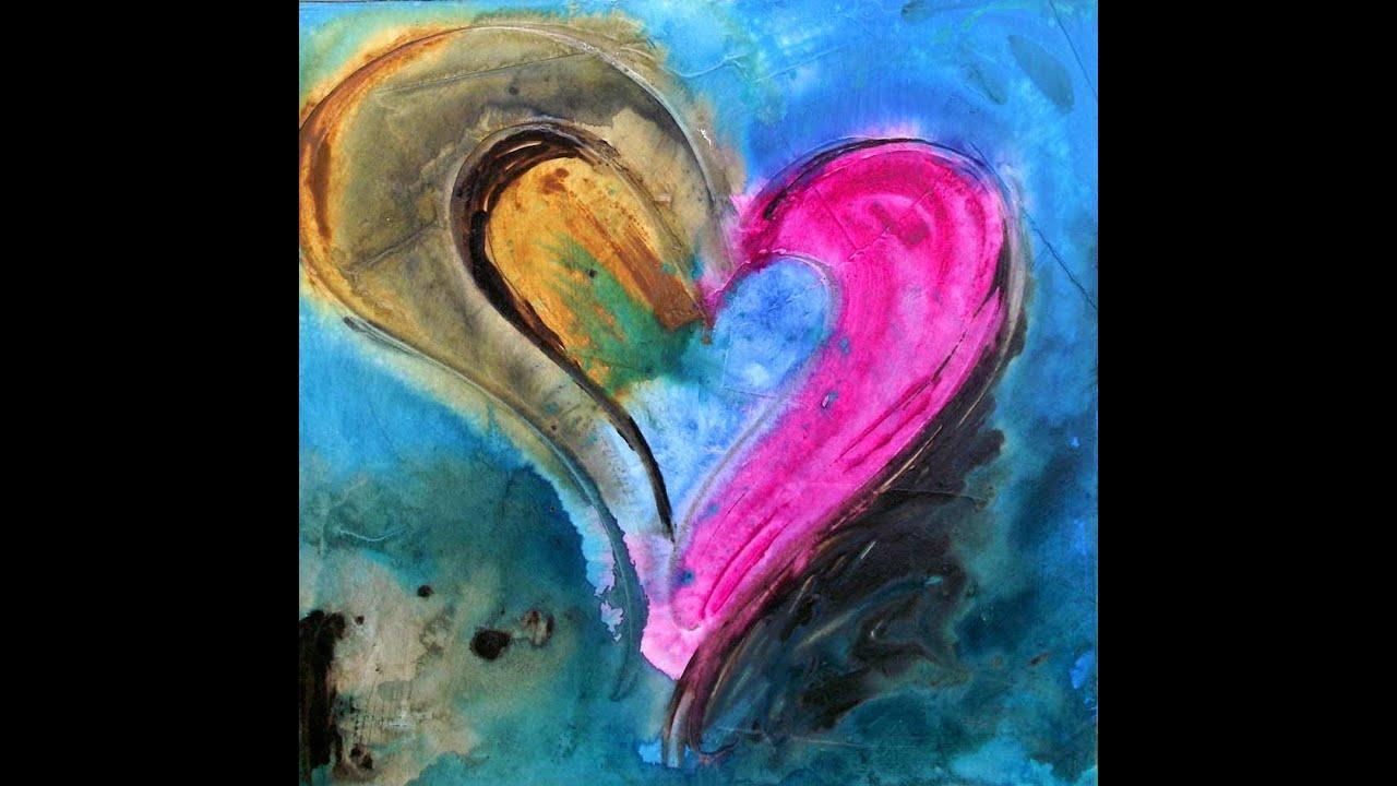 Acrylic Paintings Of Hearts