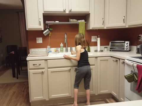 Anna's kitchen performance to Megan