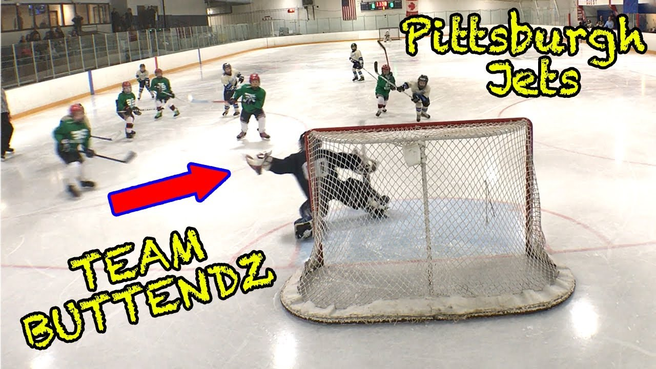Kids Hockey Game 1 Of Hockey Tournament Our Team Buttendz Takes On Pittsburgh Jets