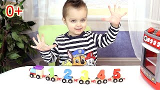 Learn colors and numbers with train - Учим цвета и цифры на английском