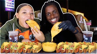 CHEESY TACO BELL MUKBANG (BIG BITES)