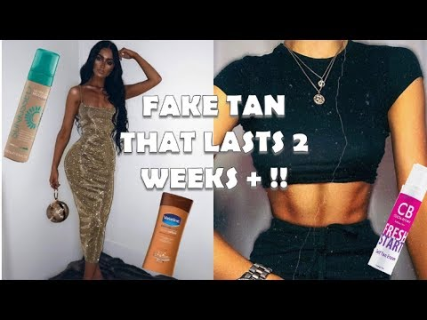 HOW TO MAKE YOUR FAKE TAN LAST 2 WEEKS +!!! | NO PATCHINESS AND NO DRY SKIN  | ANNA TEMPLETON