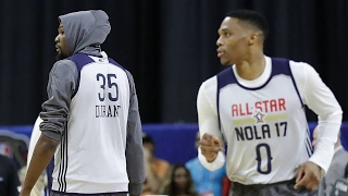 kevin durant russell westbrook reconnect on lob during all star game