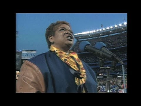 LAD@NYM: Nell Carter sings the national anthem