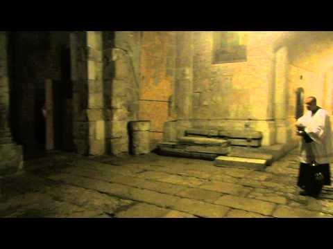 You must listen to the Franciscan monks - procession at the Church of the Holy Sepulchre, Jerusalem