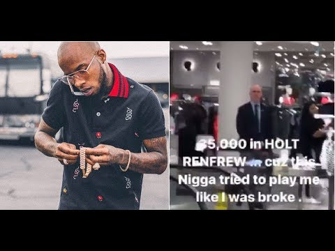Tory Lanez Balls out at Store and Drops $35,000 after employee tries to play him like he's Broke.