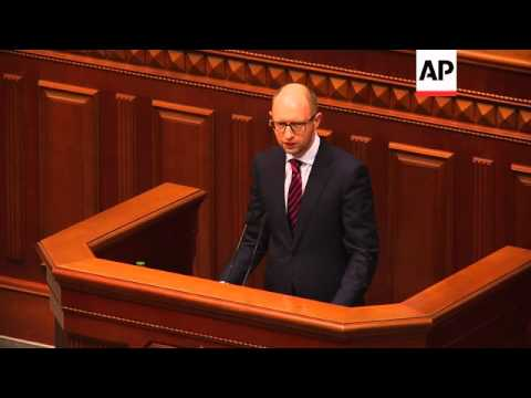 Ukraine parliament approves Arseniy Yatsenyuk as new prime minister