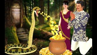 Greedy Woodcutter Story - लालची लकड़हारा हिन्दी कहानी 3D Animated Kids Hindi Moral Stories Bed Time
