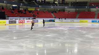 Alena KOSTORNAIA SP practice 01 11 2019 Internationaux de France 2019