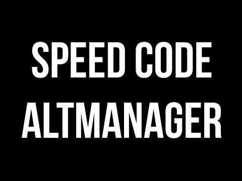 AltManager / Login | SPEED CODE | Superblaubeere27