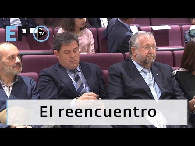 Así fue el reencuentro entre Besteiro y Orozco