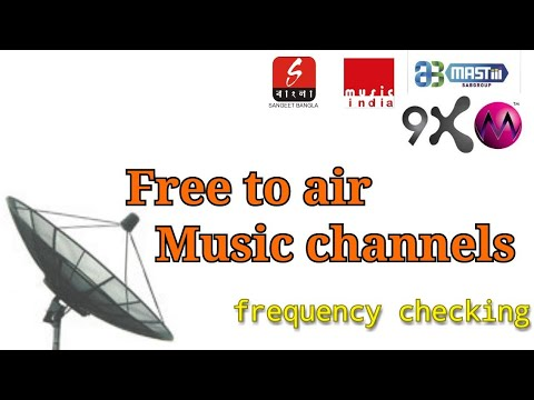 Free to air music channels   Frequency checking  signal checking   freedish