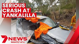 Horror smash leaves man fighting-for-life at Yankalilla | 7NEWS