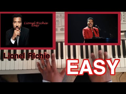 LIONEL RICHIE - EASY (THE COMMODORES) PIANO TUTORIAL (Easy like Sunday Morning)