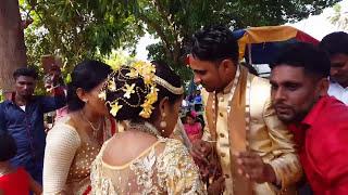 Sri lankan wedding dance නාඹර වස්සා සහ මැණිකේලා නටනවා  මගේ හිතෙ