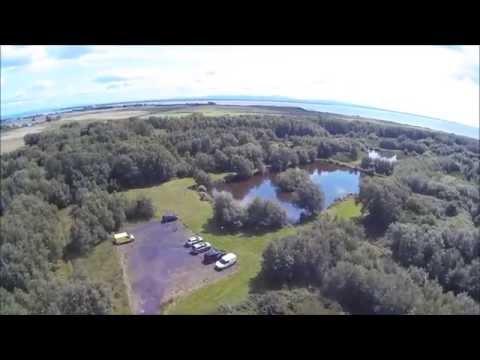 Aerial views of Broom Fisheries Newbie, near Annan
