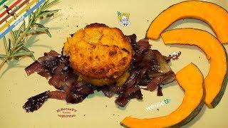 276 - Soufflè di zucca e trevigiana...si scatena la buriana! (antipasto vegetariano facile e veloce)