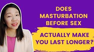 To masturbate Is before good sex it